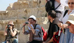 Sur les gradins du Théâtre nord de Jerash