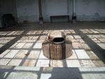 Bouche d'insufflation d'air chaud dans l'orangerie