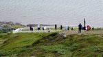 Descente au cimetière des 49 marins français et belges