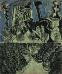 Bühnenbild 1998  Kohle/Kreide/Pigment auf Papier 121 x 100 cm