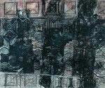Wiederholung 1996  Oel/Kohle/Kreide auf Leinwand 113 x 135 cm