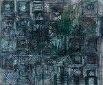 Dom 1996  Oel/Kohle/Kreide auf Leinwand 113 x 135 cm