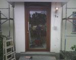 Holz-Haustür mit Panzerglas aus der Produktion der Firma Damwerth Münster