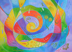 425 Inspiration,Öl auf Leinwand, 2014, 70x50 cm, verkauft