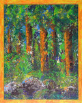 346 PB Wald, Acryl auf Hartfaser, 2012, 40 x 50 cm, 220 Euro zzgl. Versand