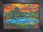 277 PB  Abendsee, Acryl auf Hartfaser, 2011, 40 x 30 cm, 130 Euro zzgl. Versand
