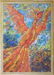 495 PB Feuervogel, Acryl auf HF, 2017, 60 x 85 cm, 700 Euro zzgl. Versand
