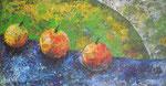 295 PB 3 Äpfel, Acryl auf Hartfaser, 2011, 61 x 31 cm, 180 Euro zzgl. Versand