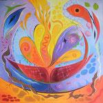 483 C'est la vie, Öl auf Leinwand, 2016, 60 x 60 cm, verkauft