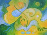 405 Freudige Momente, Öl auf Leinwand, 2014 40x30 cm, 170 Euro