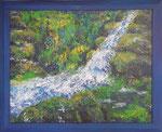 377 PB Wasserfall, Acryl auf Hartfaser, 2013, 50 x 40 cm, 240 Euro zzgl. Versand