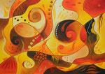 366 Traumpfade, Öl auf Leinwand, 2013, 50 x 60 cm, verkauft