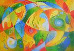 435 Farbe ist die Sprache des Lichts, Öl auf Leinwand, 2015, 100x70 cm, verkauft