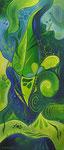 305 Grün, Öl auf Leinwand, 2011, 30x70 cm, gespendet