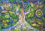 565 PB Flora, Acryl auf LW, 2020, 35 x 24 cm, 100 € zzgl. Versand