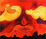 231 Inneres Feuer I, Öl auf Leinwand, 2010, 60x50 cm, 330 Euro
