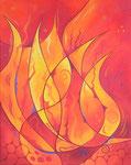411 Feuerschale, Öl auf Leinwand, 2014, 40x50 cm, 280 Euro