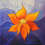 368 Seelenblume, Öl auf Leinwand, 2013, 30x30, verkauft