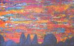 436a PB Himmel über Gorbitz, Acryl auf Hartfaser, 2014, 40 x 25 cm, 120 Euro zzgl. Versand