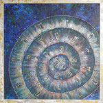 485 PB Spirale, Acryl MT auf HF, 2016, 50 x 50 cm, verkauft
