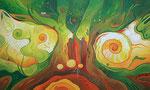 347 Inmitten des Baumes, Öl auf Leinwand, 2012, 100x60 cm, verkauft