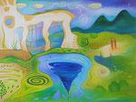437 Traumlandschaft, Öl auf Leinwand, 2015, 80x60 cm, 670 Euro