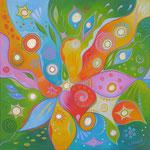513 Lakshmi, Öl auf LW, 2017, 50 x 50 cm, verkauft