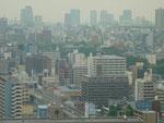通天閣から、大阪城もはっきり見えました