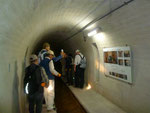地滑り対策の排水トンネル見学