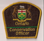 Ontario - Conservation Officer  (Gros modèle / Big size model)  (Fond brun / Brown background)  (Ancien / Obsolete)