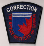"Correction - The Justice Institute of Canada  (Fond bleu sans le ""S""  /  Blue background without the ""S"")  (Holland College)  (Î-P-É / PEI)  (Ancien modèle / Last model)"