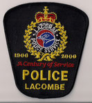 Police Lacombe - Officier / Senior Officer - A Century of Service (1900 - 2000)  (Alberta)  (Obsolete)