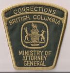 Corrections - British Columbia - Ministry of Attorney General  (Contour brun / Brown border)  (Ancien / Obsolete)