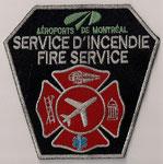 Aéroports de Montréal - Service d'Incendie / Fire Service  (Pompier / Firefighter)  (Ancien modèle / Last model)  (Contour argent / Silver border)