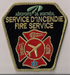 Aéroports de Montréal - Service d'Incendie / Fire Service  (Officier / Senior Firefighter)  (Ancien modèle / Last model)  (Contour Or / Gold border)