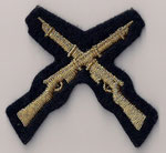 (RCMP / GRC)  Tireur d'Élite / Marksman  -  Carabines Croisées / Cross Rifles  (Or / Gold)  (Ancien / Obsolete)
