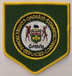 Correctional Services - Ontario - Services Correctionnels  (Gros format / Big size)  (Fond vert / Green background)  (Ancien / Obsolete)
