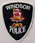 Windsor Police  (Fond noir/black - Contour blanc/white)  (Ancien/Obsolete)