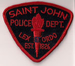 Saint John Police Dept.  (Rouge/Red)  (Ancien/Obsolete)