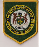 Ontario Ministry - Correctional Services  (Fond vert / Green background)  (Ancien / Obsolete)