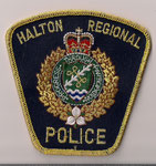Halton Regional Police - Officier / Senior Officer  (Ontario)  (2ème modèle / 2nd model)  (Fond bleu marin / Navy blue background)