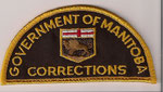 Government of Manitoba - Corrections  (Demi-lune / Half-moon)  (Ancien / Obsolete)