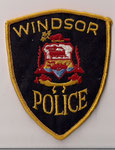 Windsor Police  (Fond noir/black - Contour jaune/yellow)  (Ancien/Obsolete)