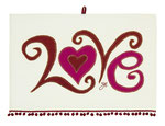 UT001 Curly Whirly Love Tea Towel