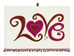 UT001 Curly Whirly Love Tea Towel