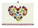 UT005 Boho Heart Cotton Tea Towel