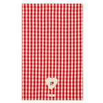 UT007 Red Gingham Rose Cotton Tea Towel