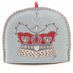 TC38 Wool Crown Tea Cosy(Duck Egg Blue)