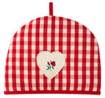 UC018 Red Gingham Rose Tea Cosy