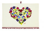 UT005 Boho Heart Cotton Tea Towel